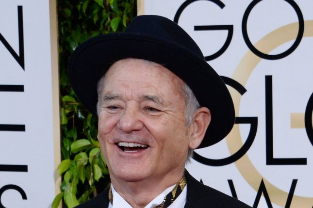 Bill Murray at the Golden Globe Awards on Jan. 11. The actor skipped the Emmys to attend son Luke Murray's wedding Sunday. File photo by Jim Ruymen/UPI