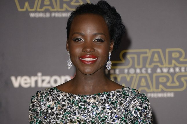 Lupita Nyong'o, shown here at the premiere of Star Wars: The Force Awakens on December 14, 2015, spoke out on Instagram against the lack of diversity in the slate of Oscar nominations. File Photo by Phil McCarten/UPI