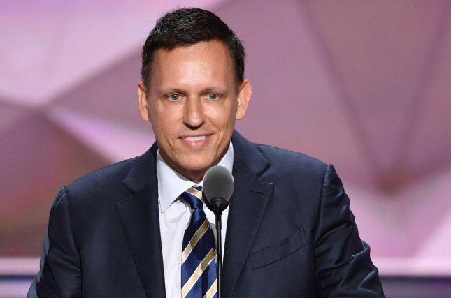 Peter Thiel, Venture Capitalist and co-founder of PayPal, speaking on the final day of the Republican National Convention at Quicken Loans Arena in Cleveland, Ohio on July 21, 2016.The GOP end their convention tonight with Donald Trump and Mike Pence representing the Republicans versus the Democratic Party ticket. Photo by Kevin Dietsch/UPI