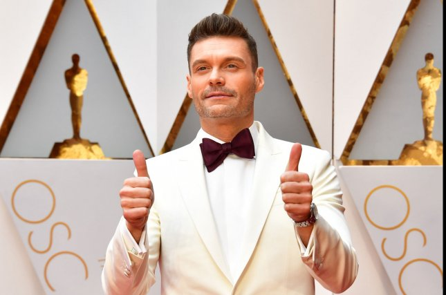 Ryan Seacrest arrives on the red carpet for the 89th annual Academy Awards on February 26. Seacrest may host a revival of American Idol File Photo by Kevin Dietsch/UPI