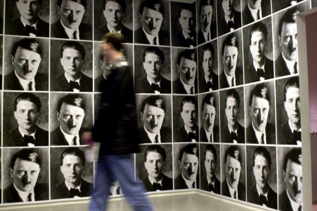 A room featuring photographic reproductions of former Nazi leader Adolf Hitler is seen at the New York City Jewish Museum. File Photo by Ezio Petersen/UPI