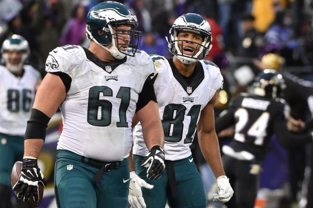 Philadelphia Eagles receiver Jordan Matthews (81) was signed by the team after DeSean Jackson was placed on injured reserve earlier this month. File Photo by David Tulis/UPI