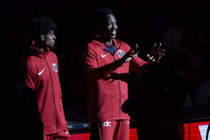 Dwight Howard and the Washington Wizards face the New York Knicks on Sunday. Photo by Alex Edelman/UPI