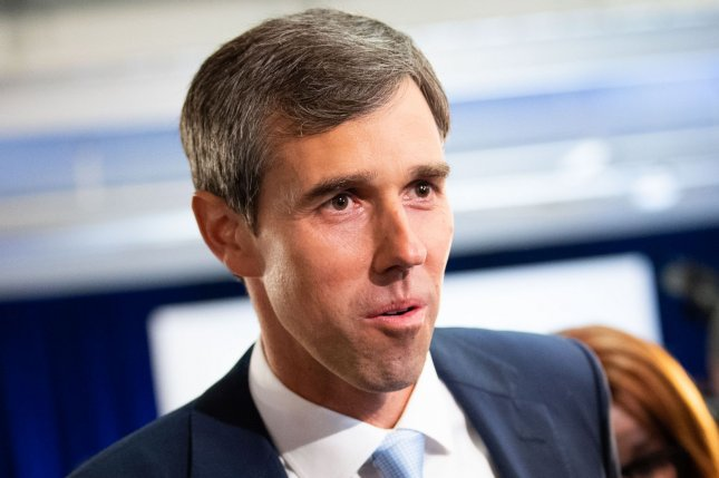 At Thursday night's debate, former Texas Rep. Beto O'Rourke,  touted his proposed mandatory buyback program for assault weapons. Photo by Kevin Dietsch/UPI
