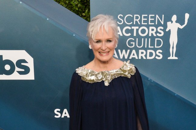 Glenn Close will read the role of Roy Cohn in a live benefit performance of scenes from Angels in America. File Photo by Jim Ruymen/UPI