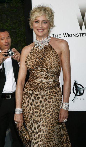 Actress Sharon Stone arrives at the amfAR Cinema Against AIDS 2008 gala taking place during the 61st Annual Cannes Film Festival near Cannes, France on May 22, 2008. The event raises funds for AIDS research. (UPI Photo/David Silpa)
