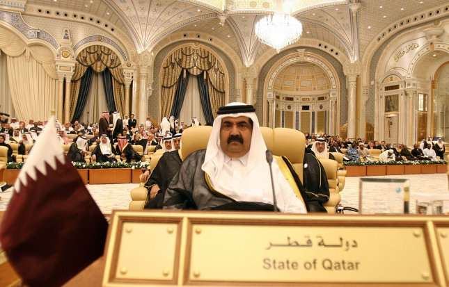 Qatar's Emir Sheikh Hamad bin Khalifa looks on as he attends the opening ceremony of the OPEC (Organization of the Petroleum Exporting Countries) summit in Riyadh, Saudi Arabia on November 17, 2007. (UPI Photo)