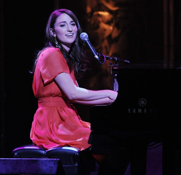 Musician Sara Bareilles, who received the ASCAP's Vanguard Award in recognition of the impact of musical genres that help shape the future of American music, performs during the 25th annual ASCAP Pop Music Awards at the Kodak Theatre in the Hollywood section of Los Angeles on April 9, 2008. (UPI Photo/Jim Ruymen)
