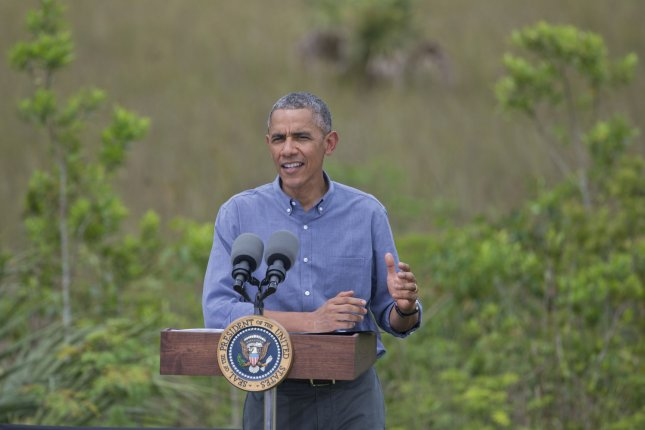 U.S. President Barack Obama delivers remarks on earth day at the Ernest F. Coe Center in the Everglades National Park, Homestead, Florida, April 22, 2015. President Obama Spoke about the threat climate change poses to our economy and the world. Photo by Gary I Rothstein/UPI