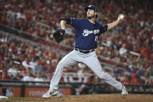 Former Milwaukee Brewers pitcher Drew Pomeranz agreed to a four-year, $34 million deal with the San Diego Padres. File Photo by Kevin Dietsch/UPI