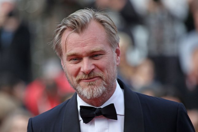 Christopher Nolan arrives on the red carpet before the screening of Sink Or Swim (Le grand bain) at the 71st annual Cannes International Film Festival in Cannes, France, on May 13, 2018. The filmmaker turns 50 on July 30. File Photo by David Silpa/UPI
