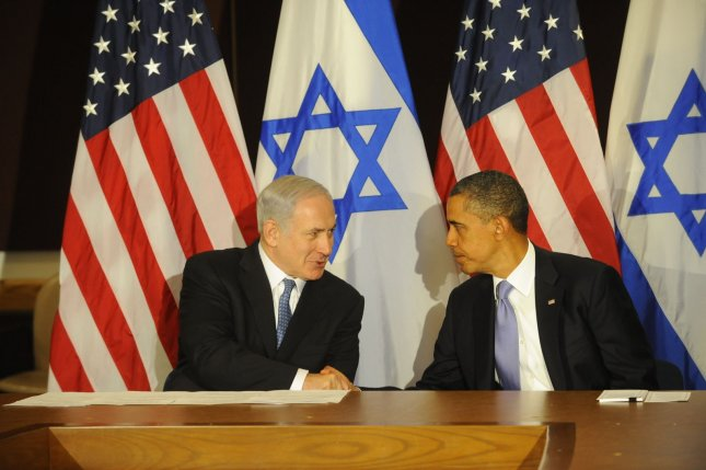 United States President Barack Obama mets with Israeli Prime Minister Benjamin Netanyahu during the UN General Assembly at the UN headquarters in New York on September 21, 2011. UPI/Aaron Showalter/Pool