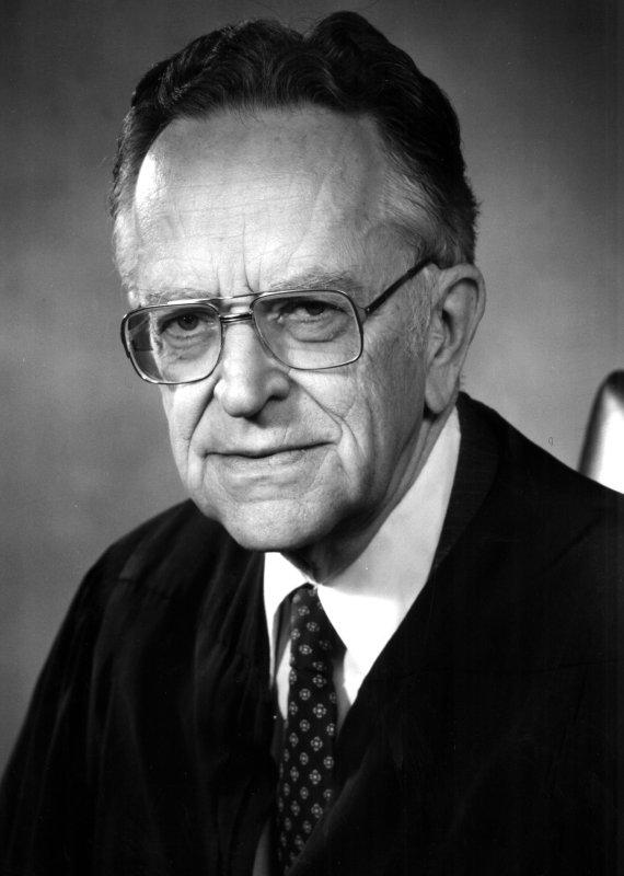 Supreme Court Associate Justice Harry A. Blackmun file photo/ UPI