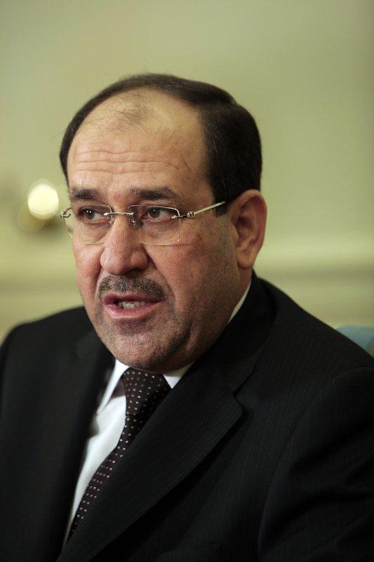 Iraqi Prime Minister Nouri al-Maliki in a 2009 file photo. UPI/Aude Guerrucci/Pool