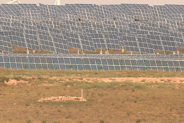 Giant solar power project completed in Arizona. UPI/Stephen Shaver