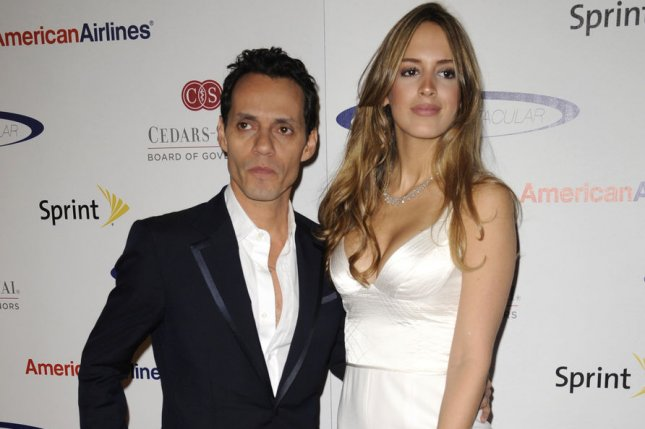 Marc Anthony (L) and Shannon De Lima attend the 27th anniversary Sports Spectacular held at the Hyatt Recency Century Plaza Hotel in Los Angeles on May 20, 2012. UPI/Phil McCarten