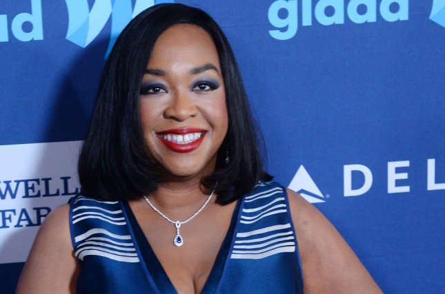 Screenwriter Shonda Rhimes attends the 26th annual GLAAD Media Awards at the Beverly Hilton Hotel in Beverly Hills, California on March 21, 2015. Photo by Jim Ruymen/UPI