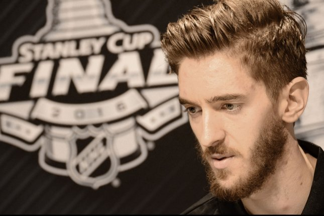 Pittsburgh Penguins goalie Matt Murray at Media Day on the eve of Game One between the Pittsburgh Penguin and the San Jose Sharks of the Stanley Cup Finals at the Consol Energy Center in Pittsburgh on May 29, 2016. Photo by Archie Carpenter/UPI