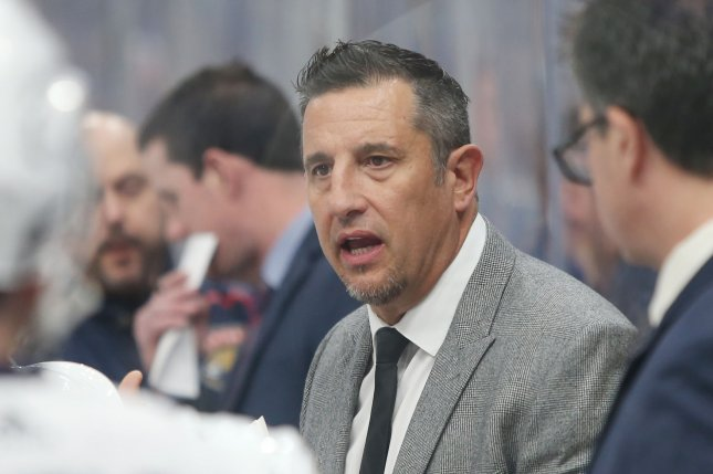 The Florida Panthers have fired head coach Bob Boughner after two seasons on the bench. The team missed the postseason by 13 points, wrapping up the season 36-32-14. File Photo by BIll Greenblatt/UPI