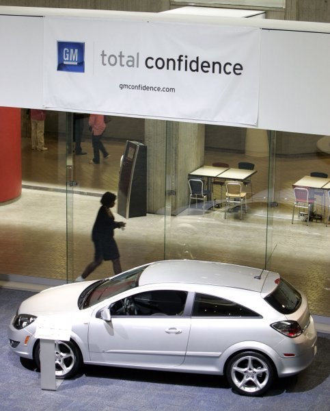 General Motors closed it's showroom inside the Renaissance Center, the site of GM's Global Headquarters in downtown Detroit, as it filed for bankruptcy protection on June 01, 2009. (UPI Photo/Mark Cowan)