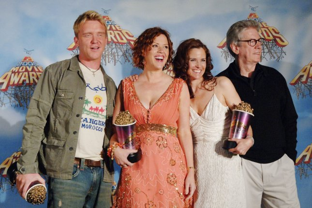 Cast members from the The Breakfast Club from left, Anthony Michael Hall, Molly Ringwald, Ally Sheedy, and Paul Gleason in 2005. File photo by Lazlo Fitz/UPI
