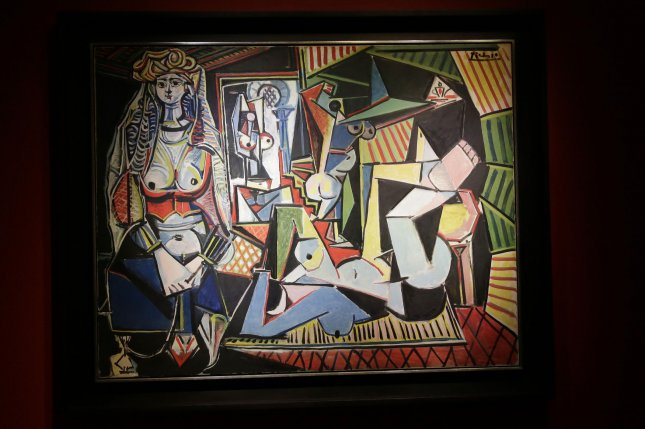 A painting by Pablo Picasso entitled Les femmes d'Alger is on display after it is auctioned at Christie's in New York City on May 11, 2015. The Picasso sold for a record $179,365,000 (including Christie's commission of just over 12%). Previously the most expensive art work ever sold at auction is Francis Bacon's Three Studies of Lucian Freud, which went for $142 million in 2013. Photo by John Angelillo/UPI