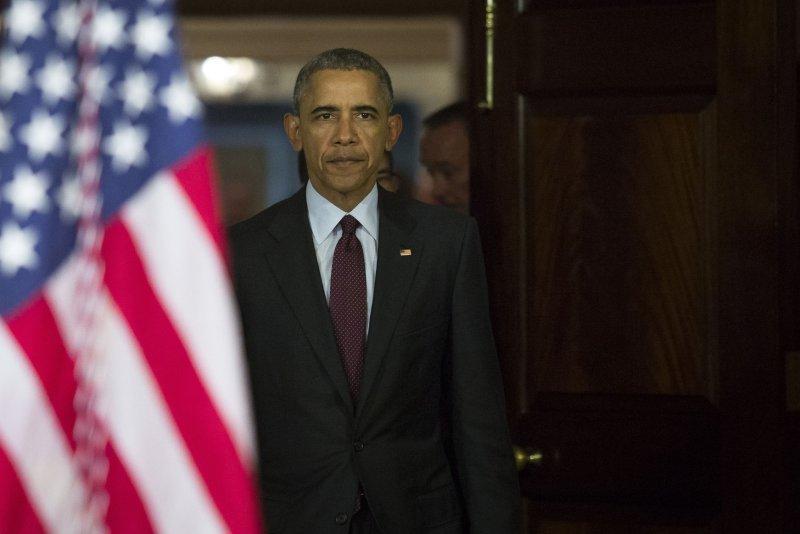 U.S. President Barack Obama on Wednesday a U.S.-led coalition has eliminated key Islamic State leadership and ground. File Photo by Drew Angerer/UPI