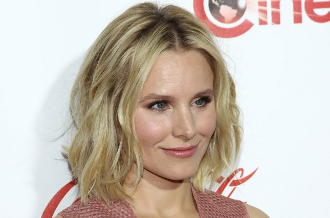 Actress Kristen Bell arrives for the CinemaCon 2016 Big Screen Achievement Awards, OMNIA Nightclub at Caesars Palace, Las Vegas, Nevada on April 14, 2016. Photo by James Atoa/UPI