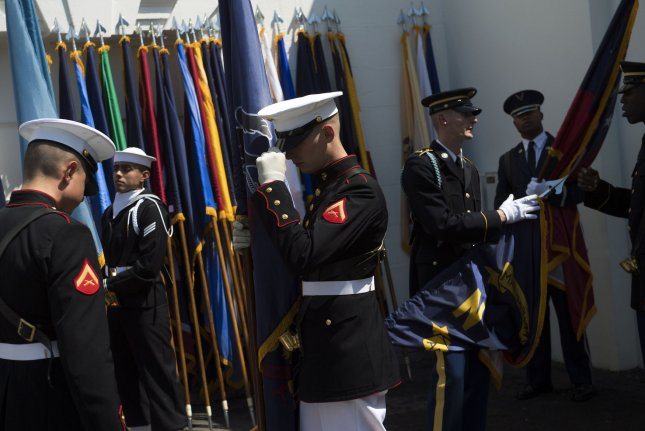 A new study shows that military service may boost well-being and quality of life for transgender veterans. Photo by Kevin Dietsch/UPI
