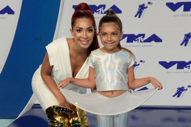 Farrah Abraham (L), pictured with daughter Sophia, goes off on a producer in a preview for Monday's episode of Teen Mom OG. File Photo by Jim Ruymen/UPI
