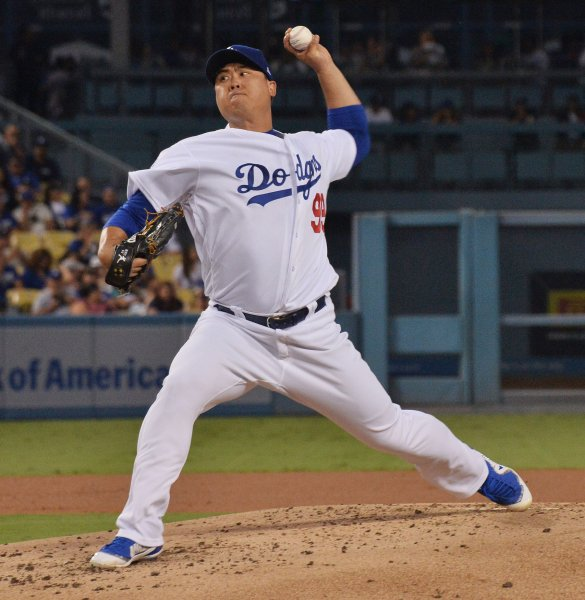 Hyun-Jin Ryu and the Los Angeles Dodgers face the Cincinnati Reds on Tuesday. Photo by Jim Ruymen/UPI