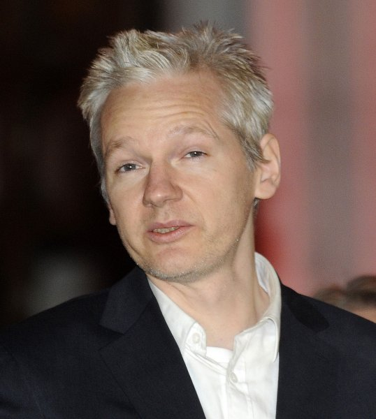 WikilLeaks founder Julian Assange says he doesn't need to go to Sweden to answer questions on sexual assault claims, questioning the prosecution against him. UPI/Hugo Philpott