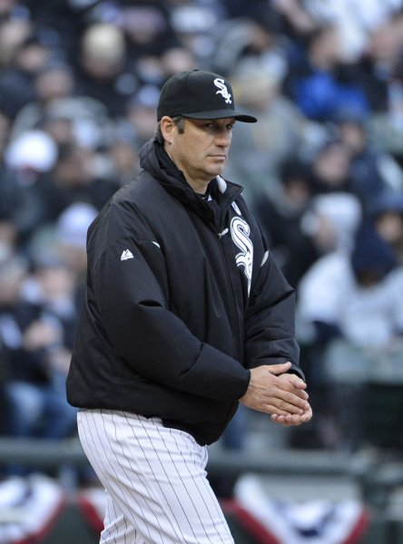 Chicago White Sox Manager Robin Ventura, shown in a game last April, has signed a multiyear contract to remain manager of the White Sox, the team said Friday. UPI/Brian Kersey