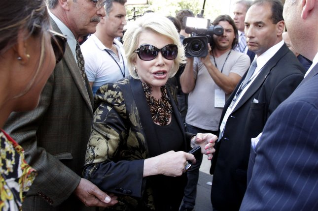Joan Rivers was omitted from the In memoriam reel at the Oscars. UPI/John Angelillo