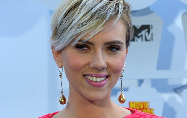 Actress Scarlett Johansson arrives at the MTV Movie Awards on April 12, 2015. File Photo by Jim Ruymen/UPI