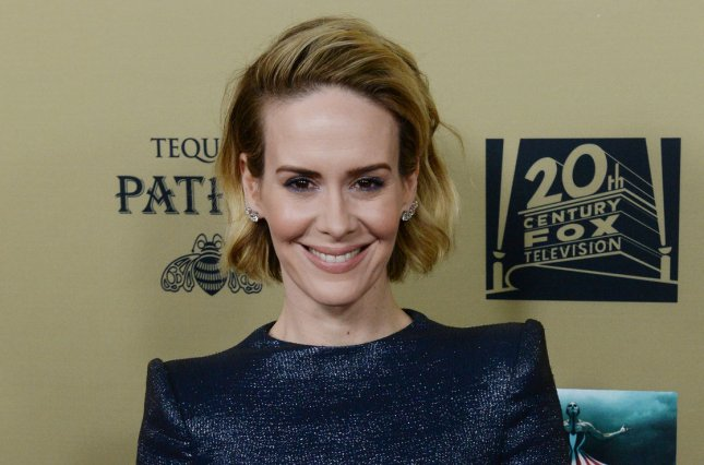 Sarah Paulson at the Los Angeles premiere of 'American Horror Story: Hotel' on October 3. The actress stars in a first full-length 'American Crime Story: The People vs. O.J. Simpson' trailer. File Photo by Jim Ruymen/UPI