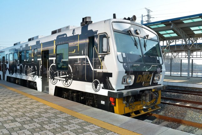 The DMZ train at Dorasan Station in the Civilian Control area near the demilitarized zone (DMZ) in Paju, South Korea. Seoul could be planning more rail transport that could connect to North Korea, according to Yonhap. Photo by Keizo Mori/UPI