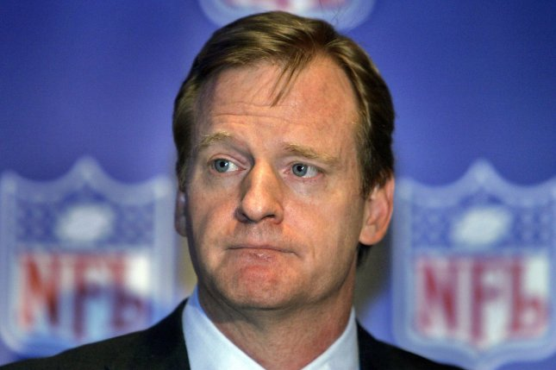 NFL Commissioner Roger Goodell speaks to the press. File photo by Judi Bottoni/UPI