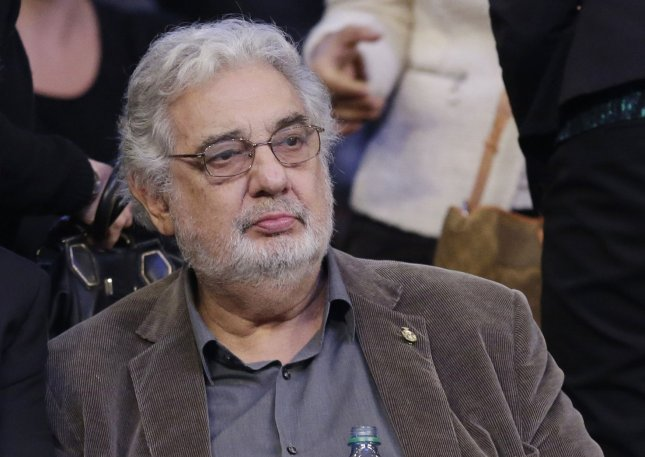 Placido Domingo withdrew from performances at the Metropolitan Opera on Tuesday amid accusations of sexual harassment by 20 women. File Photo by John Angelillo/UPI