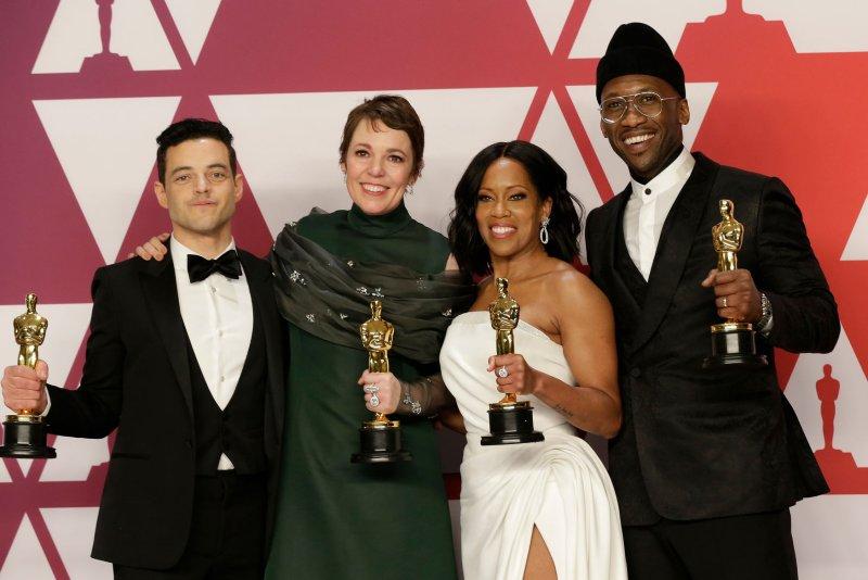 Rami Malek, Olivia Colman, Regina King andMahershala Ali will be presenters at next month's Oscars ceremony. File Photo by John Angelillo/UPI