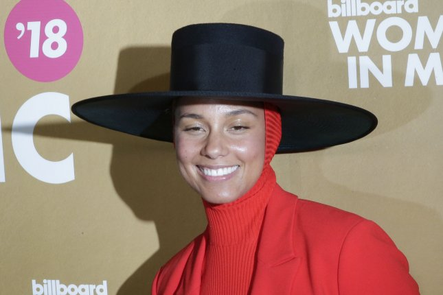 Alicia Keys arrives on the red carpet at the Billboard Women In Music 2018 on December 6, 2018, in New York City. She turns 39 on January 25. File Photo by John Angelillo/UPI
