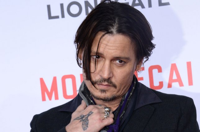 Johnny Depp and his fellow Hollywood Vampires Joe Perry and Alice Cooper have booked two shows at The Roxy in Los Angeles. Photo by Jim Ruymen/UPI