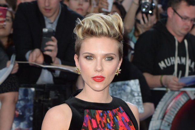 Scarlett Johansson at the London premiere of 'Avengers: Age of Ultron' on February 21. The actress will voice the snake Kaa in 'The Jungle Book.' File photo by Rune Hellestad/UPI