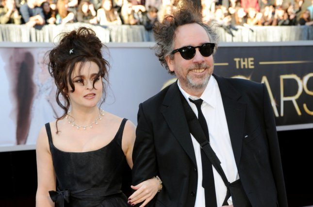 Helena Bonham Carter (L) and Tim Burton at the Academy Awards on Feb. 24, 2013. The actress recently said she and Burton share a 'special' relationship despite their split last year. File Photo by Kevin Dietsch/UPI