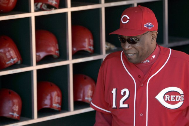 Cincinnati Reds manager Dusty Baker on October 11, 2012. UPI/Mark Cowan