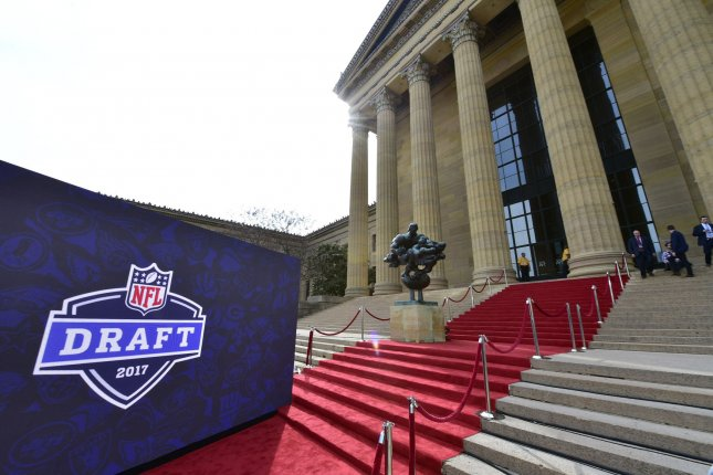 View of the art museum steps prior to prospects walking the red carpet before the 2017 NFL Draft at the NFL Draft Theater in Philadelphia, PA on April 27, 2017. Photo by Derik Hamilton/UPI