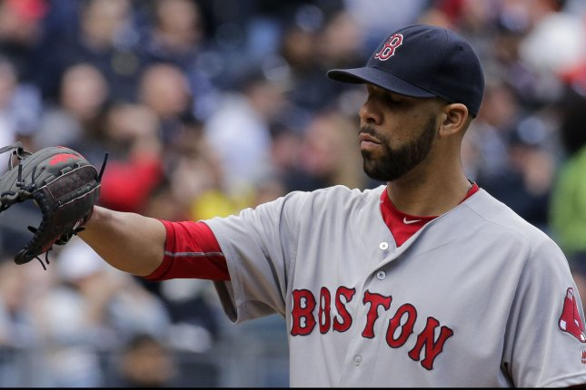 Boston Red Sox starting pitcher David Price was activated from the disabled list Monday. File photo by Ray Stubblebine/UPI