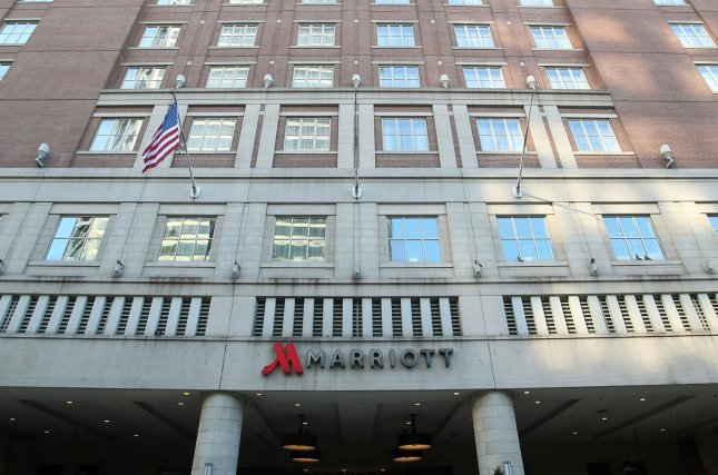The Marriott Grand Hotel is pictured in downtown St. Louis, Mo., on April 1, 2020. File Photo by Bill Greenblatt/UPI