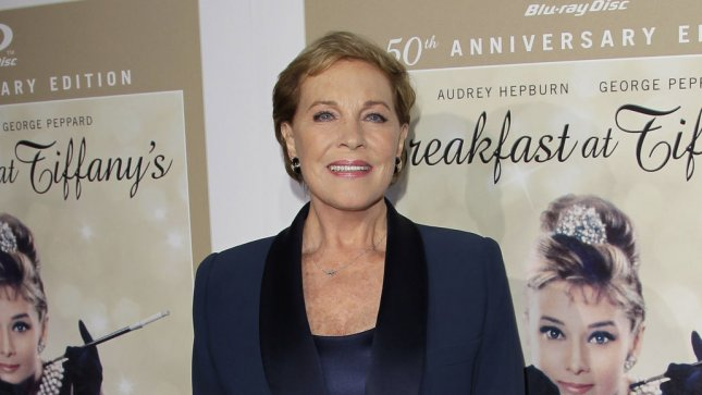 Julie Andrews arrives on the blue carpet at a gala event to celebrate the 50th anniversary of the classic film Breakfast At Tiffany's in Alice Tully Hall at Lincoln Center in New York City on September 15, 2011. UPI/John Angelillo