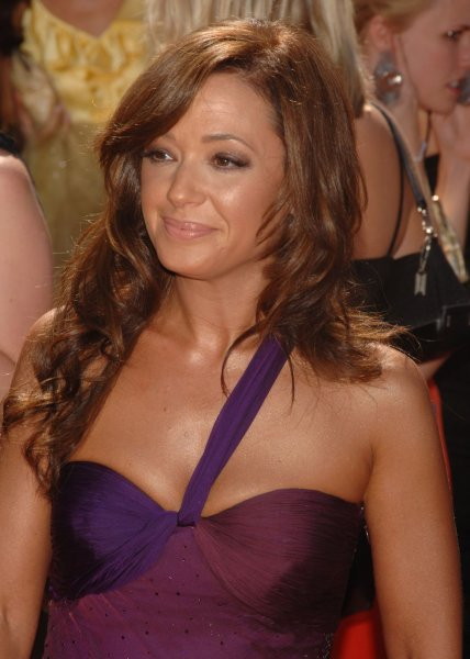 Leah Remini arrives for the 58th annual Primetime Emmy Awards at the Shrine Auditorium in Los Angeles, California on August 27, 2006. (UPI Photo/Jim Ruymen)